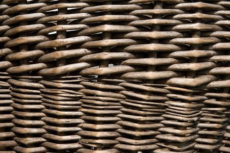 Closeup of a wicker basket (as a background and woven pattern) Stock Photo - 3602040