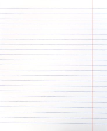 Blank lined notebook sheet Stock Photo - 3622513