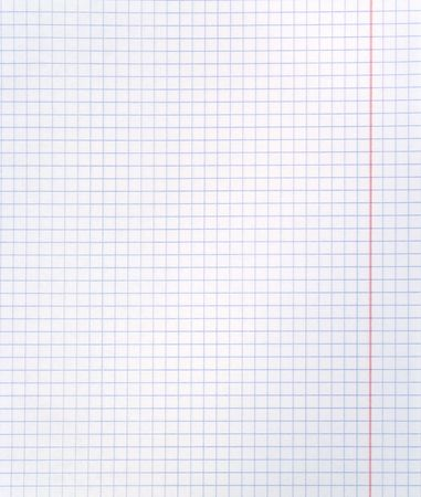 Blank squared notebook sheet Stock Photo - 3800073