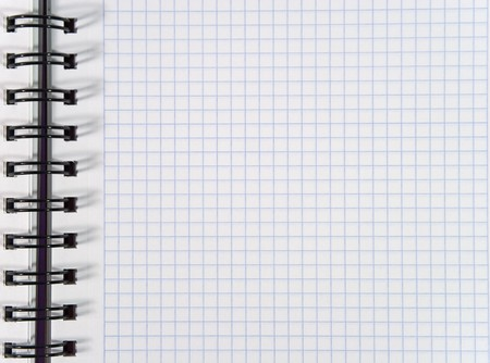 White squared notebook sheet Stock Photo - 3980573