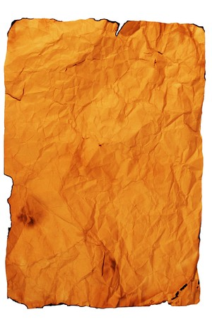 Sheet of old paper (isolated on white) Stock Photo - 4300786