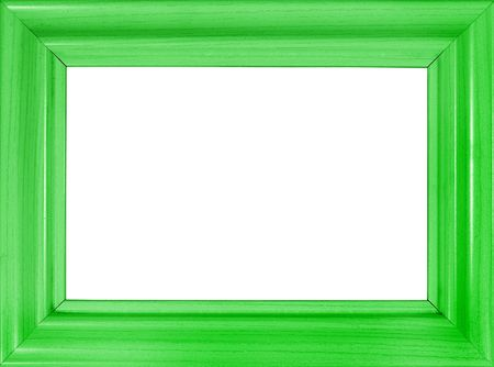 Bright green wooden frame