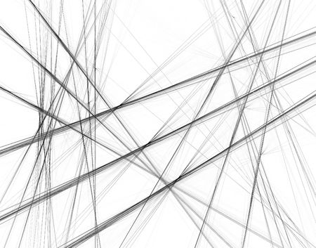 Abstract black and white background with crossing lines Stock Photo