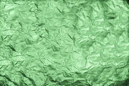 Old green crumpled paper (as an abstract background) Stock Photo - 5114343
