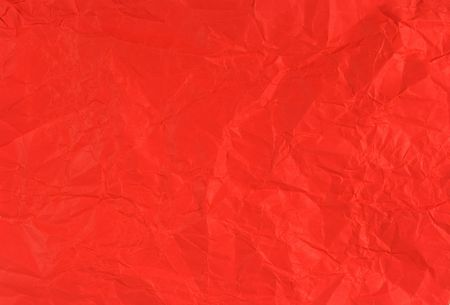 Crumpled scarlet paper Stock Photo