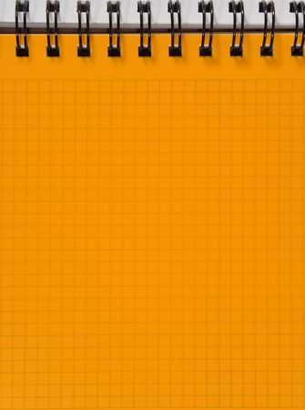 Yellow squared notebook sheet Stock Photo - 5277385