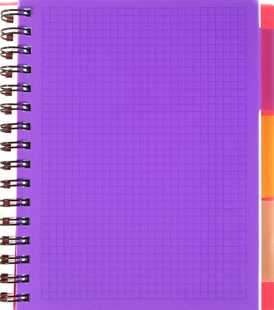 Violeta cuadrado hoja de cuaderno Foto de archivo - 5277411