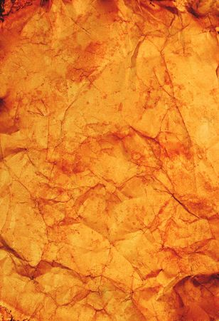 Crumpled and stained old paper Stock Photo - 5600517
