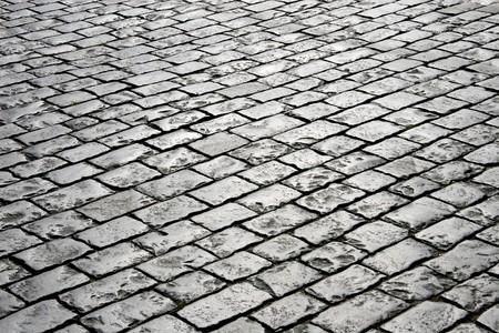 Closeup of block pavement (as a background) photo