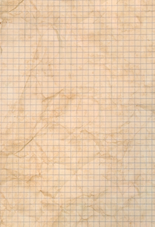 Sheet of stained squared paper