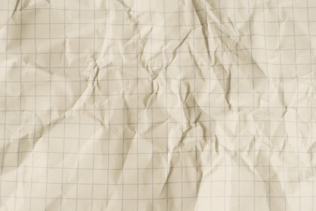 Old crumpled squared paper (as a background) Stock Photo - 9195131