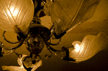 ceiling lamp: Vintage ceiling lamp (sepia, retro style)