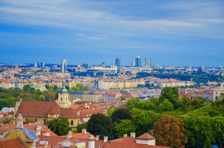 Panorama of Prague on a sunny day (Prague, Czech Republic)
