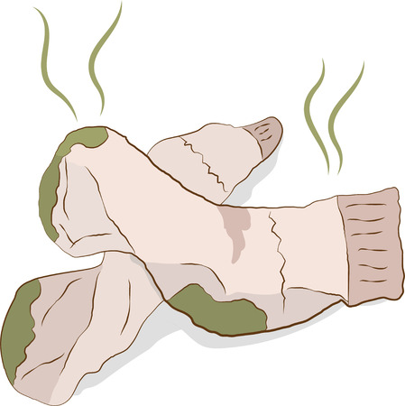 dirty clothes: Dirty smelly socks