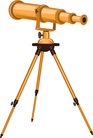 Vector illustration of a telescope. Isolated object. Astronomy.