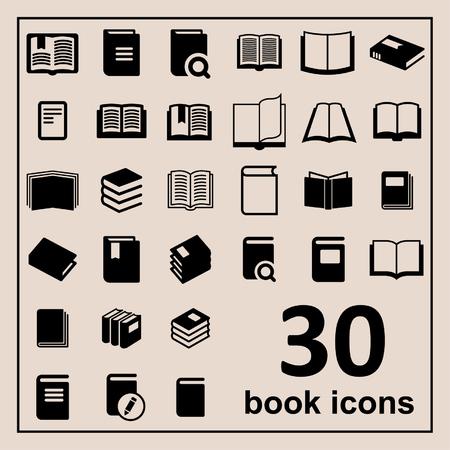 libro abierto: Libro Iconos Biblioteca iconos Iconos de la educación de lectura iconos aprendizaje iconos Libro iconos Conocimiento pictograma Vectores