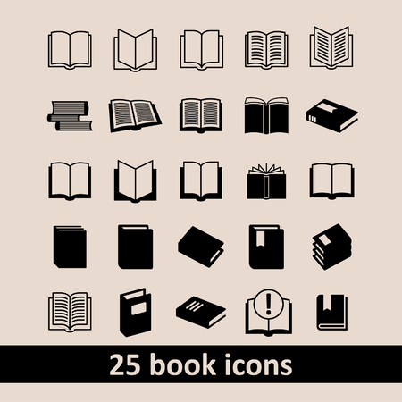 epublishing: Book icons Library icons Education icons Reading icons Learning icons Book pictogram Knowledge icons