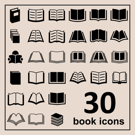 books: Book icons Library icons Education icons Reading icons Learning icons Book pictogram Knowledge icons