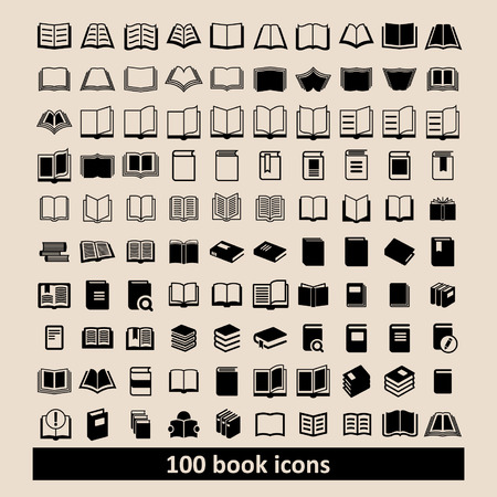 open magazine: Book icons Library icons Education icons Reading icons Learning icons Book pictogram Knowledge icons