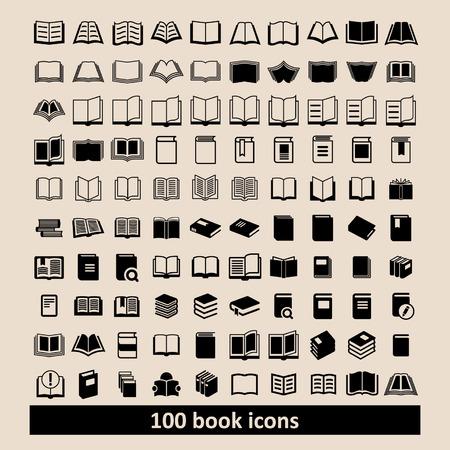 libro: Libro Iconos Biblioteca iconos Iconos de la educación de lectura iconos aprendizaje iconos Libro iconos Conocimiento pictograma Vectores