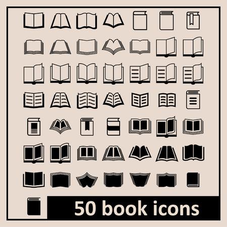 open agenda: Libro Iconos Biblioteca iconos Iconos de la educación de lectura iconos aprendizaje iconos Libro iconos Conocimiento pictograma Vectores