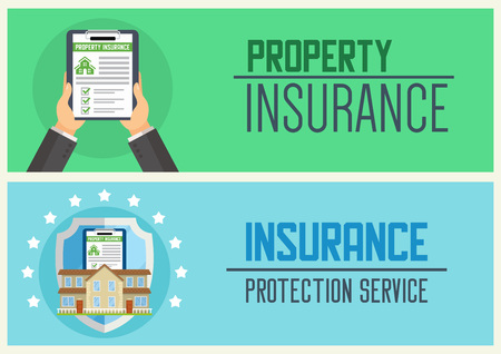 House insurance service vector illustration for web design.