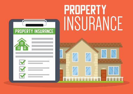 Ilustración de vector de servicio de seguro de casa para diseño web. Ilustración de vector