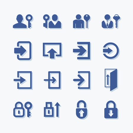 User login or authenticate vectoe icons. Personal protection symbol. Internet privacy account protection.
