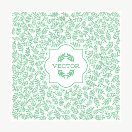 Background with floral vector leaf for decoration