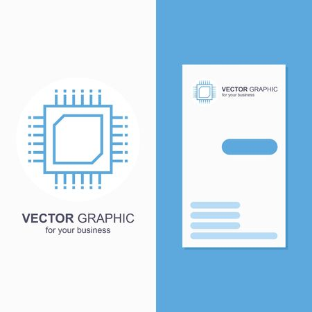 Technology line chip  icon. Microchip electrical card or banner template.