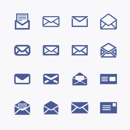Set of icons for messages. Vector mail pictograph illustration. Illustration