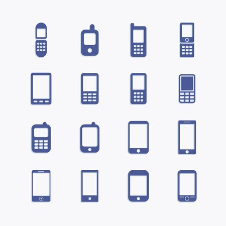 Telephone receiver flat vector pictogram icons.