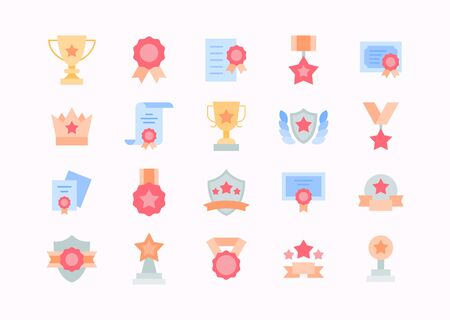Vector award and championship flat pictogram icons for your designs.