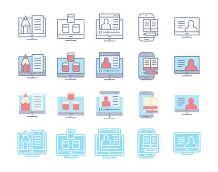 Web,Advertising icons on buttons,Back version,vector set 1