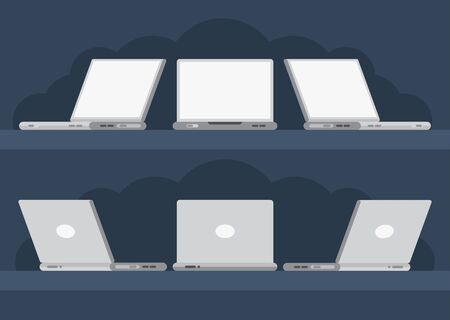 Set of vector laptops for your presentation