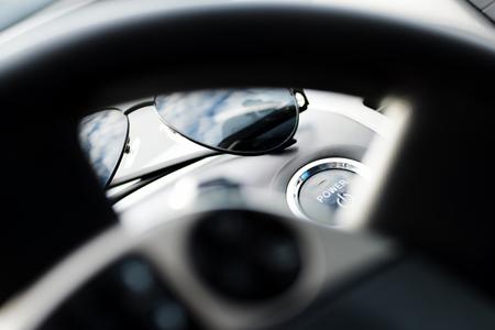 hybrid car: Hybrid car engine start button