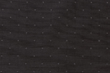Highly detailed all over background texture of black and gray square-shaped dots textile in synthetic fabric. Banque d'images