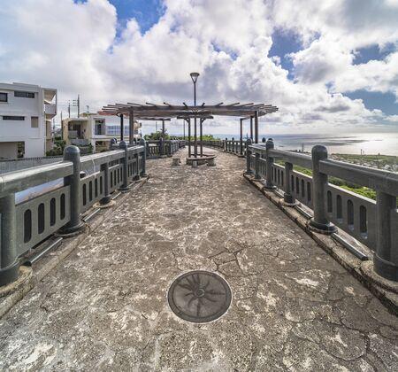 Agaiteida bridge which means East Sun on the Hanta road near the North Nakagusuku Castle in Okinawa Island Stok Fotoğraf - 128012281