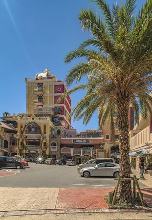 American Village, Japan - September 17, 2018: Shop Mall of the American Village of Chatan City in Okinawa island where Seaside Distortion, Fashion Oak and Depot Island Seaside buildings are located 写真素材 - 126692649