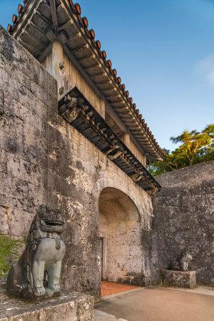 Kankaimon gate of Shuri Castles in the Shuri neighborhood of Naha, the capital of Okinawa Prefecture, Japan. Editöryel