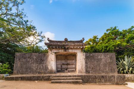 Sonohyan-utaki gate of Shuri Castles in the Shuri neighborhood of Naha, the capital of Okinawa Prefecture, Japan. Editöryel
