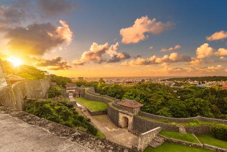 kyukeimon gate of Shuri Castles in the Shuri neighborhood of Naha, the capital of Okinawa Prefecture, Japan.