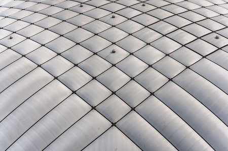 Texture background depicting a close up photography on the air-supported dome-shaped roof of a pressurized inflatable superstructure of a dome stadium. Stok Fotoğraf