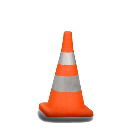 Traffic danger cone isolated on white background Stock Photo - 4368940