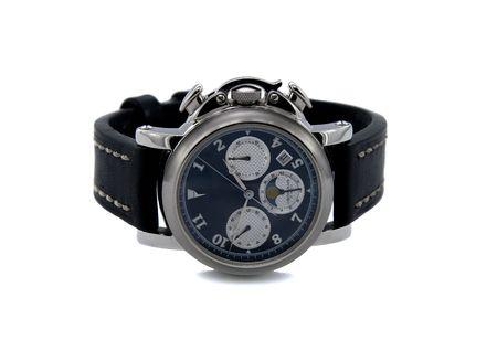 cronografo: Reloj cron�grafo aislado fondo blanco
