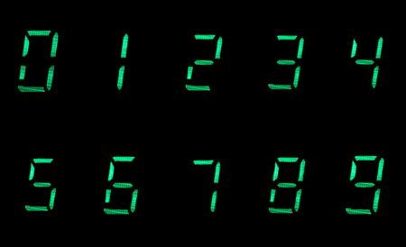 digital numbers in green on black background Stock Photo - 4631394