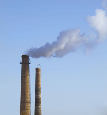 Scary Image of Power Plant emissions Stock Photo - 4661342