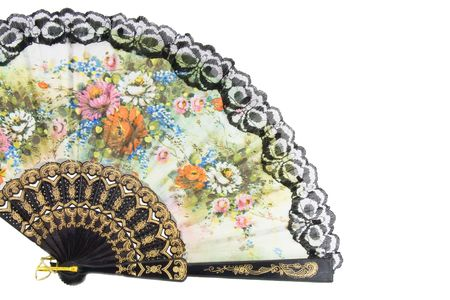 Elegant chinese fan isolated over white background Stock Photo - 4825914