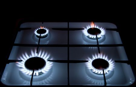 Blue flames of gas stove Stock Photo - 4972580