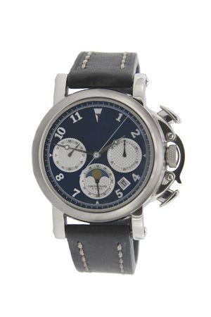 cron�grafo: Cron�grafo Rich reloj de plata en fondo blanco